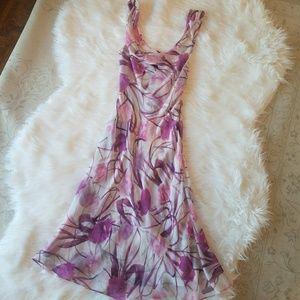 Diane Von Furstenberg sheer silk dress